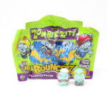 Zombie Zity Bouncerz collectible figures from the children's menu box Kiddybox